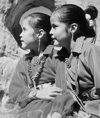 American Indian black and white photography